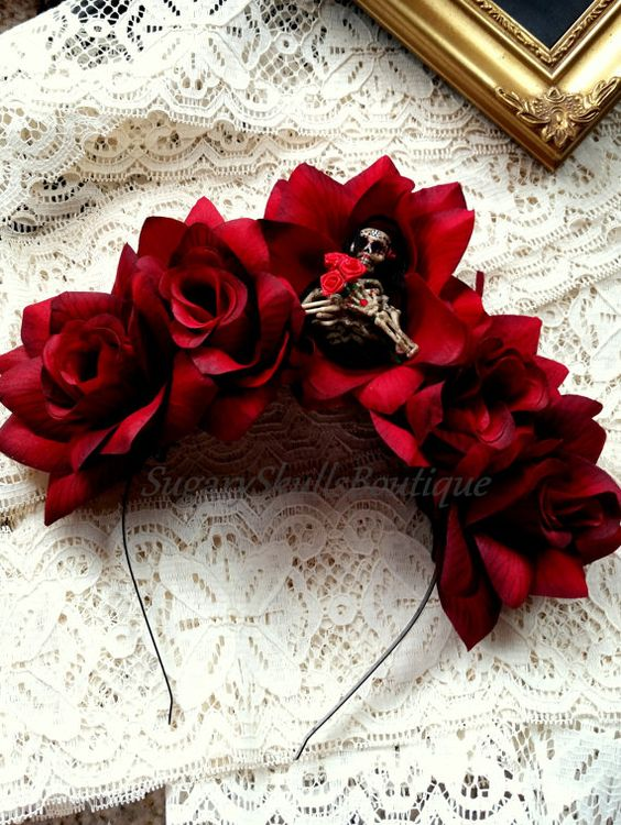 Book of Life Dia de los Muertos Headband by SugarySkullsBoutique