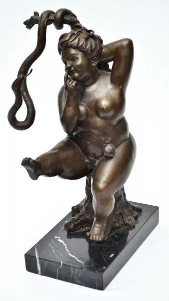 """BOTERO - """"Eva, Maça e Serpente"""", escultura em bronze cinzelado da """"European Finery Bronz"""