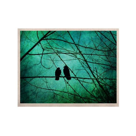 "Robin Dickinson ""Smitten"" Blue Teal KESS Naturals Canvas (Frame not Included)"