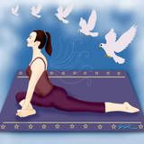 Pigeon Pose is great for relieving sciatic nerve pain during pregnancy.