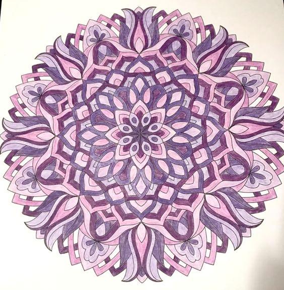 ColorIt Mandalas to Color Volume 1 Colorist: Jennifer Latour Baker #adultcoloring #coloringforadults #mandalas #mandalastocolor