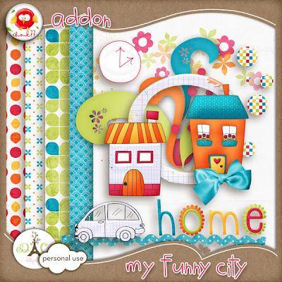 Chouk77 Designs: My Funny City + freebie