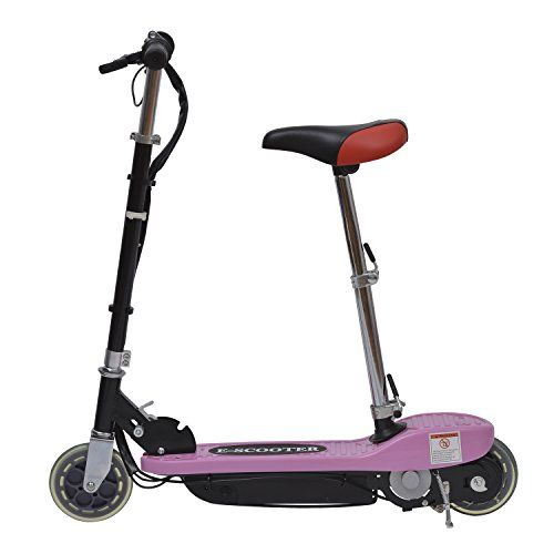 Homcom Electric E Scooter Ride on Battery Kids Children Toys Scooters 120W Motor 24V – Pink