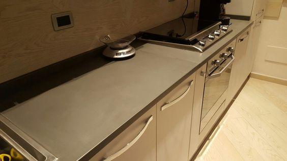 Top cucina in ardesia grigia piano naturale   Lavelli e top ...