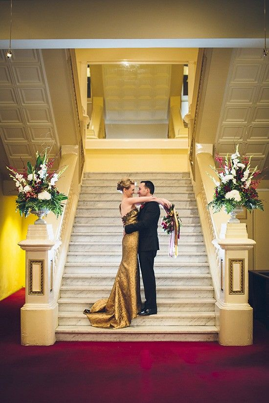 Staircase Wedding Gold 2 0 1 6 Pinterest Staircases And