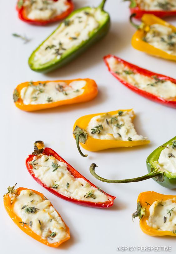 Stuffed pepper recipes stuffed peppers and simple for Simple canape appetizer