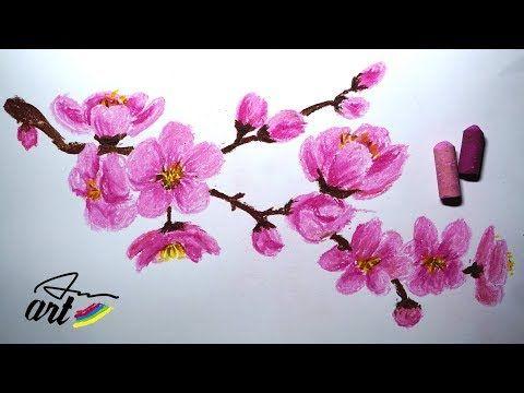 How To Draw Cherry Blossom Sakura Very Easy Youtube Cherry Blossom Painting Cherry Blossom Drawing Flower Drawing