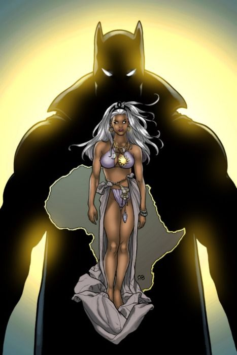 Ororo and T'Challa aka Storm and The Black Panther. Black love...Marvel style :-)