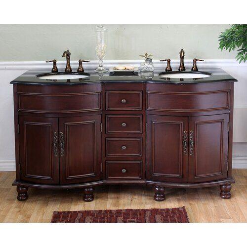 Lombardi 62 Double Bathroom Vanity Set, 62 Inch Double Sink Bathroom Vanity Set