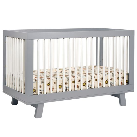 Babyletto Hudson Convertible Crib Grey -- transitions into a toddler bed or daybed--- versatile!