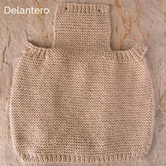 C mo tricotar el delantero de un pelele de lana para beb - Lanas y punto ...
