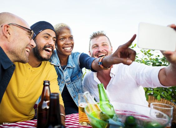 Be inspired by Rawpixel.com - A group of friends of different race taking a selfie or maybe a wefie