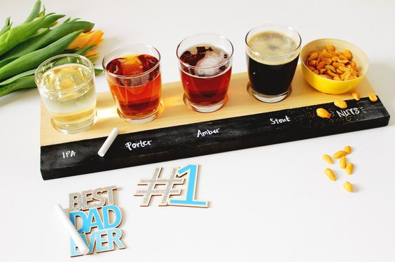 Make Dad a Beer-Tasting Flight Tray for Father's Day via Brit + Co