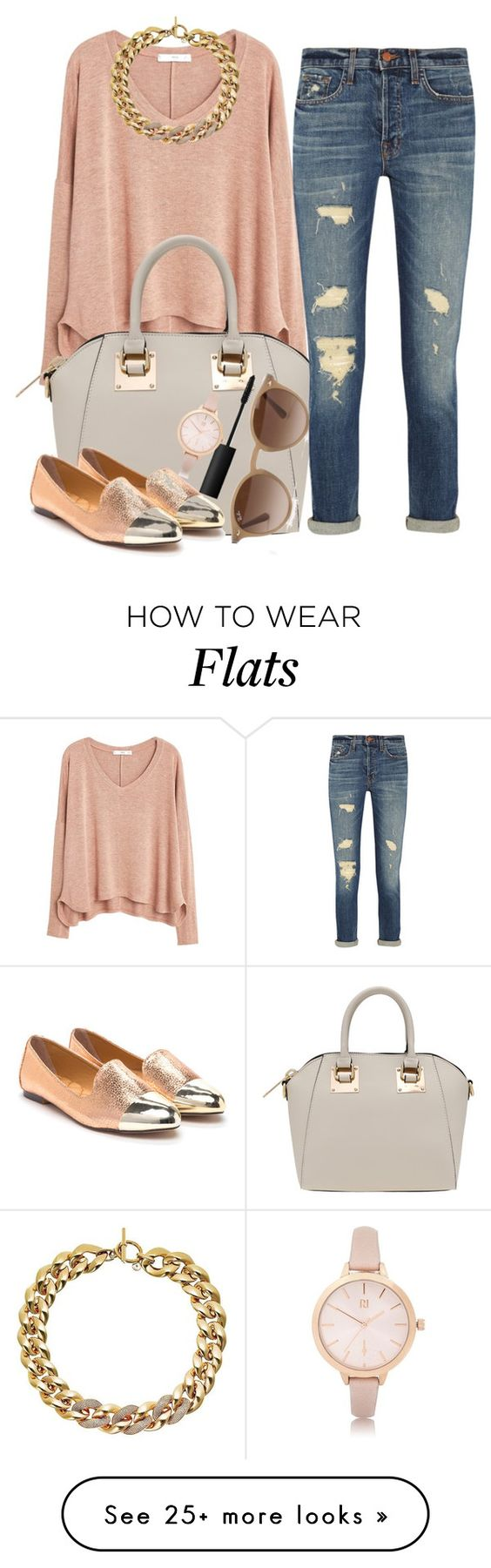 """""""Untitled #735"""" by evaapombo21 on Polyvore featuring MANGO, Ray-Ban, J Brand, NARS Cosmetics, River Island and Michael Kors"""