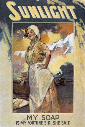 Sunlight Soap. Colour lithograph. England, c.1890-1910.