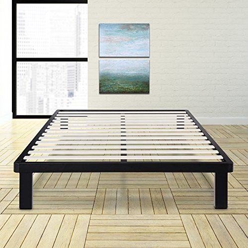 Olee Sleep 14inch Tall Dura Metal Wood Slat King Bed Frame Read