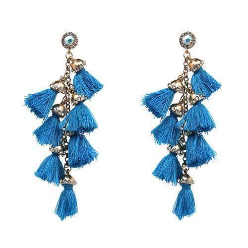 Silvestoo Jaipur 925 Silver Plated Earring For Women /& Girls PG-127745