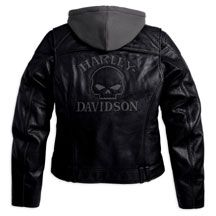 Women's Reflective Skull 3-in-1 Leather Jacket | MotorClothes® Merchandise | Harley-Davidson USA