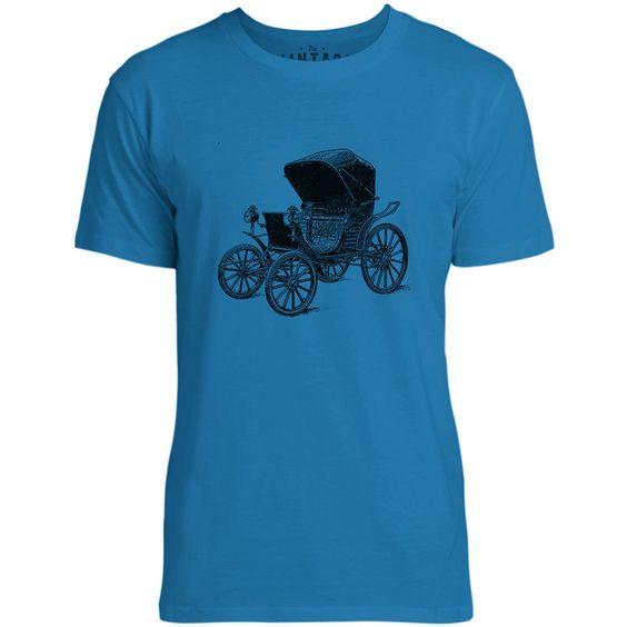 Mintage Gas Lamp Automobile Mens Fine Jersey T-Shirt (Cobalt)