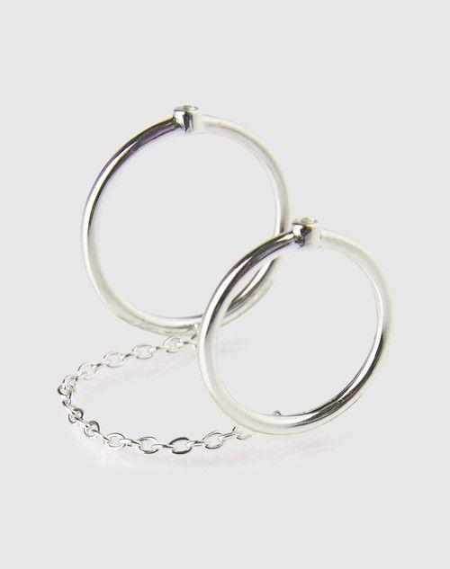 Zwei verbundene Ringe 'Miro'