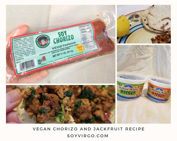 soy chorizo and jackfruit recipe soyvirgo.com