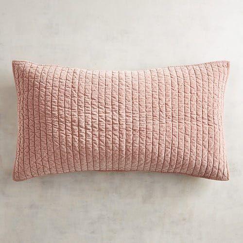 atwood velvet blush king pillow sham