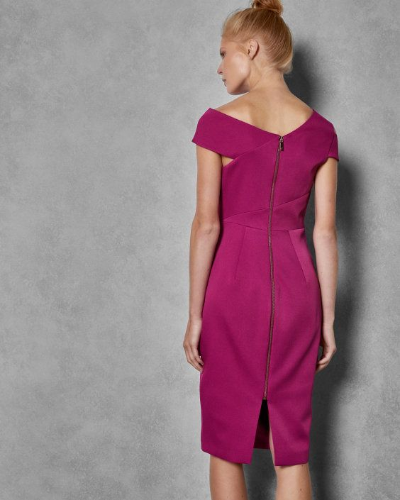 Aspyn Midi Dress Bodycon Bodycon Midi Bright Pink Dresses