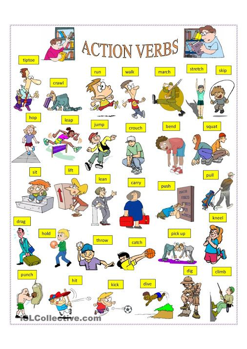 action verbs esl pinterest action verbs action and english - Action Berbs