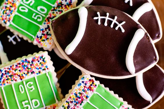 awesome football cookies