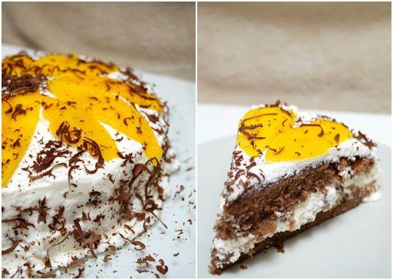 Schokokuss und Zuckerperle: {Wieder zurück} & Mango-Stracciatella-Torte