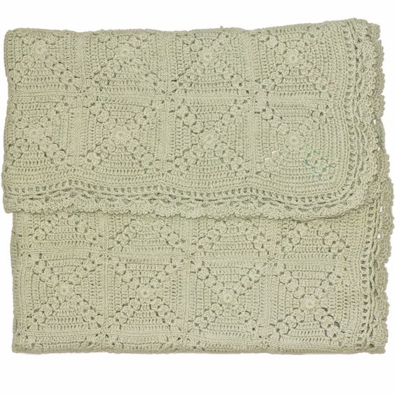 Granny Square Blanket Sea Foam