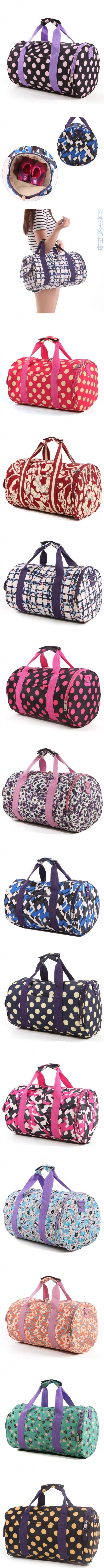 Flowers Leisure Sports Duffel Bags Polyester Single Sweet Lady Soft Handle.