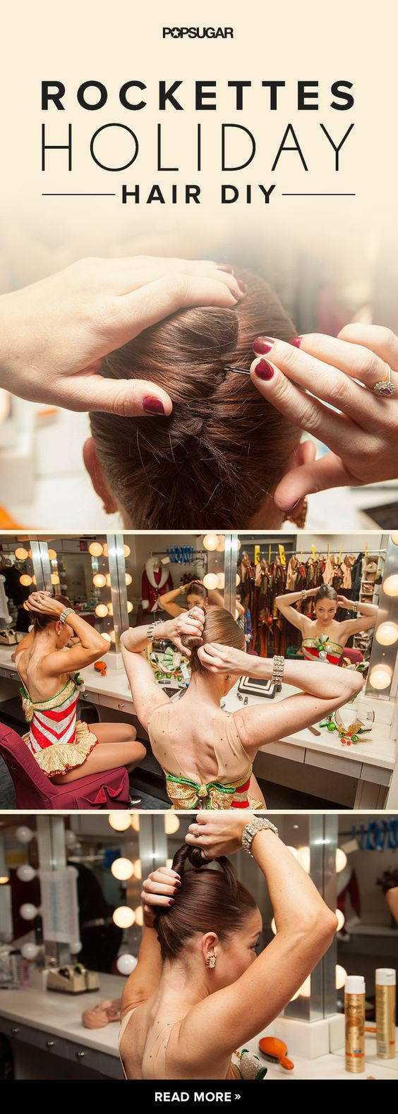 Kick up your hair game with a French twist DIY straight from the Rockettes!