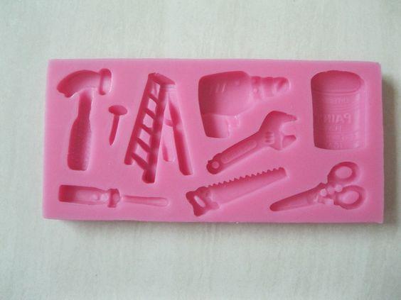 Wholesale Product Snapshot Product name is schere, bohrmaschine, schlagwerkzeuge Serie Fondant formen 3d-formen, kerzenformen, Zucker handwerk werkzeuge, schokoladenformen, backen ware