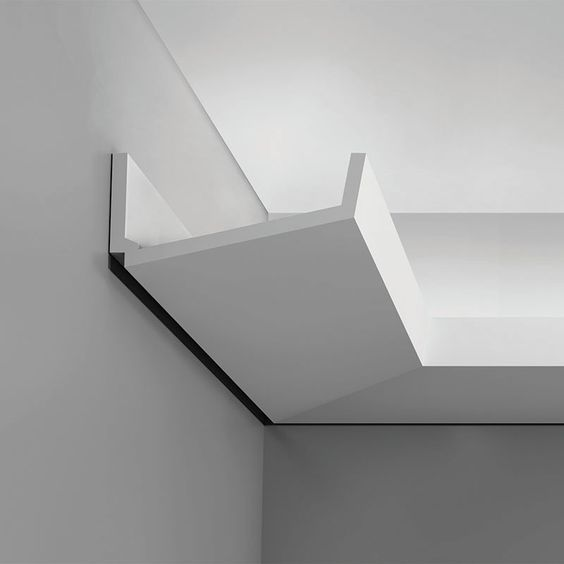 """C352 Crown Molding for Indirect Lighting. Face: 6-11/16"""" Length: 78-3/4"""" ____________________________ Request Your FREE Catalog: http://form.outwater.com/oracusa.php:"""