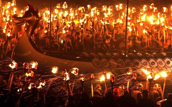 A Viking Festival Pictures - The Up Helly Aa fire festival in Lerwick, Shetland Islands, Scotland