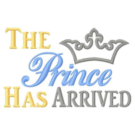 The Prince Has Arrived Applique Embroidery by Timetocraftshop