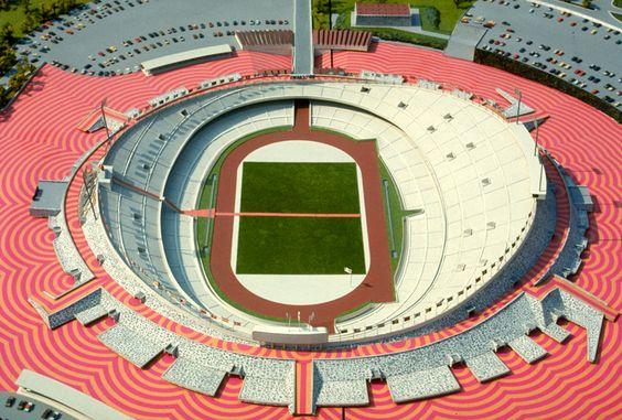 MEXICO 68 - Environmental graphics surrounding the Olympic Stadium