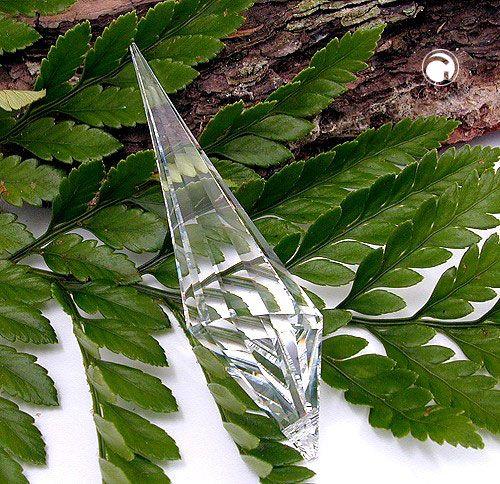 Anhänger, Konus, kristall klar  Kristall-Glas, 30% Bleigehalt