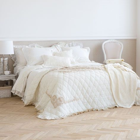 Embroidered linen quilt - This week - New Arrivals | Zara Home United Kingdom