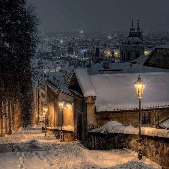 soir Snowy à Prague ... .by Martin Froyda
