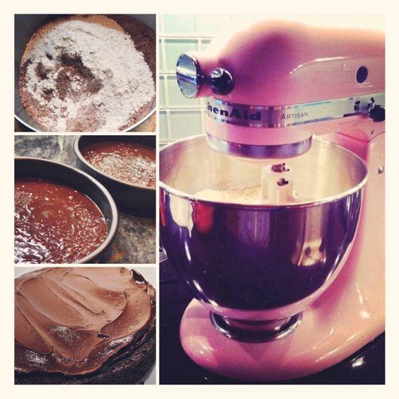 Double fudge chocolate cake! 