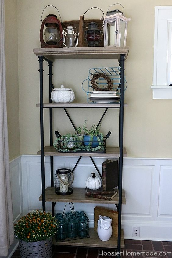 Easy Farmhouse Shelf Decor