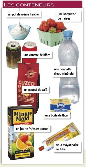 #vocabulaire : les contenants vocabolario #francese : i contenitori