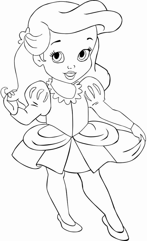 Baby Disney Princess Coloring Pages In 2020 Mermaid Coloring