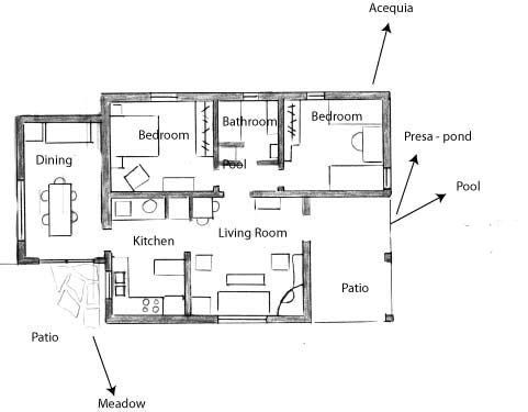 Small Casita Floor Plans Gravel Path Access No Stair