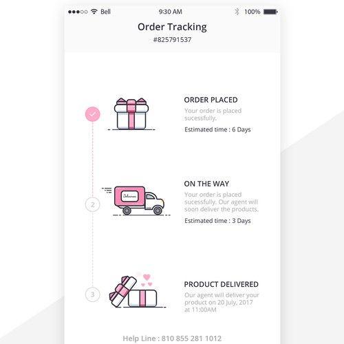 App Design For Fun Delivery Tracking App Design Contest Design App Contest Jesperbergkvist App Design Mobile App Design Web Design