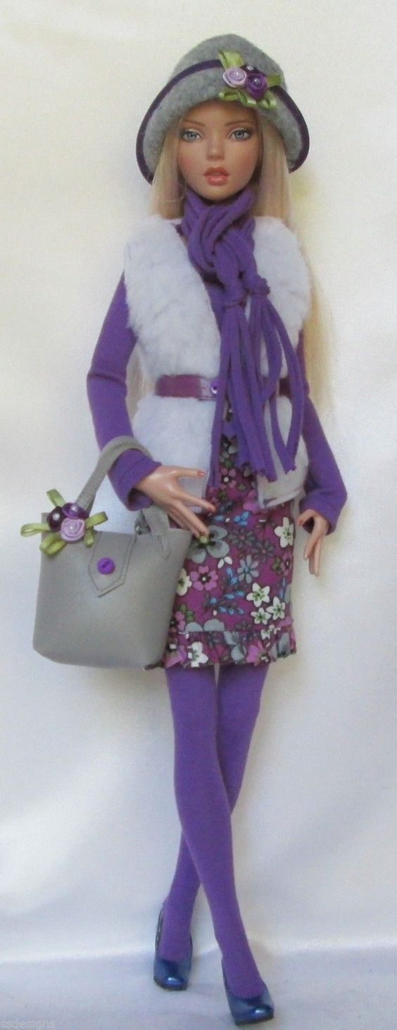 """Penelope's Purple Passion for 16"""" Tonner Deja Vu Made by Ssdesigns 