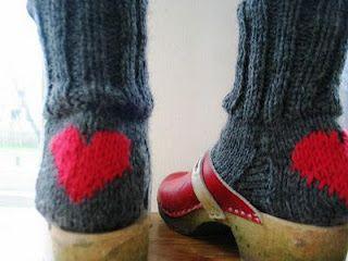 heart heeled socks