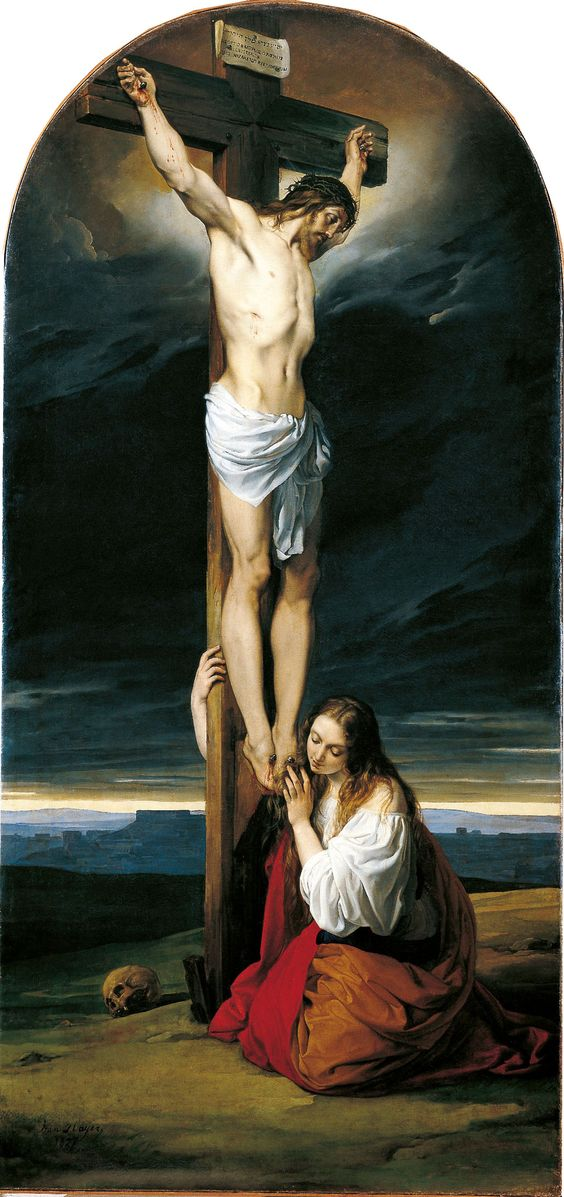 """Francesco Hayez, """"Crocifisso con la Maddalena"""", 1825-1827, Milano, Museo Diocesano:"""